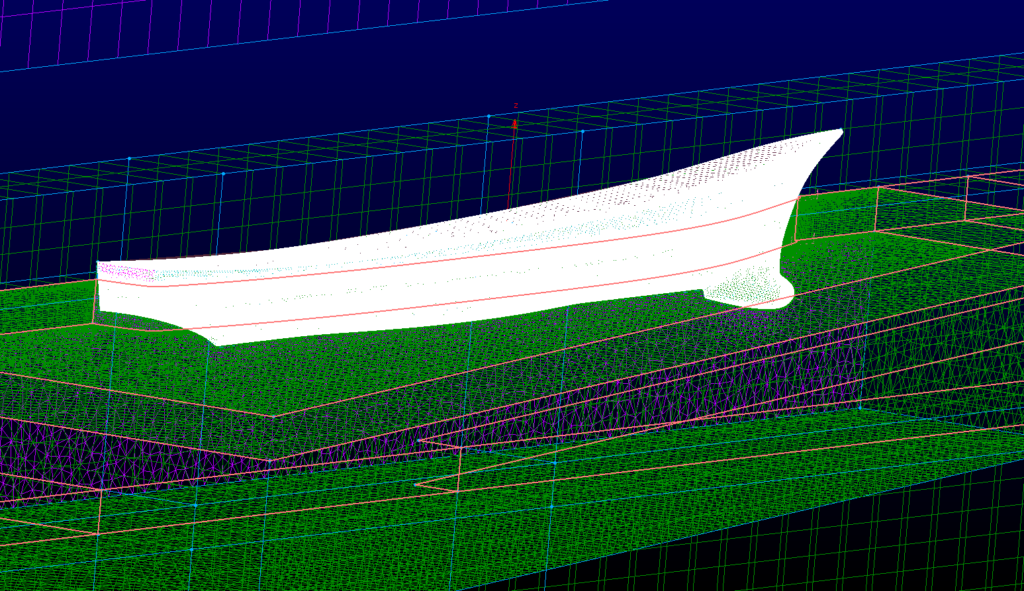 Griglia tridimensionale per simulazioni di fluidodinamica computazionale