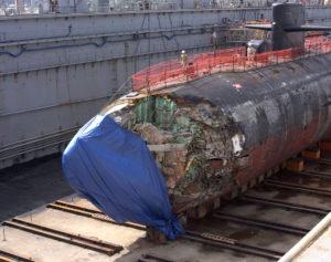 Prua danneggiata USS San Francisco